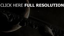 planeten bahn felsen geröll asteroiden