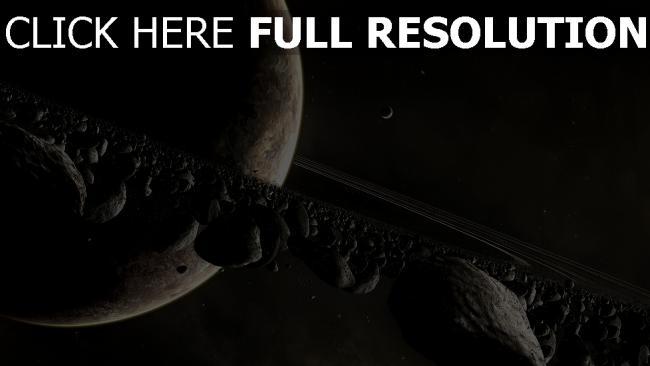 hd hintergrundbilder planeten bahn felsen geröll asteroiden