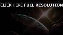 planet licht glanz fragmente