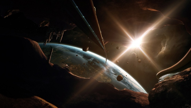 hd hintergrundbilder planet licht glanz fragmente