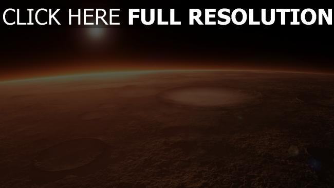 hd hintergrundbilder planeten oberfläche krater glühen horizont