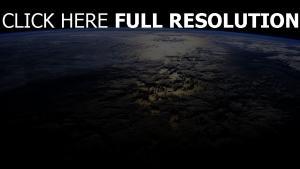planet erde insel schatten horizont