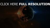 planeten sterne oberfläche nebelfleck