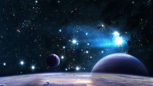 planeten sterne leuchten strahlen