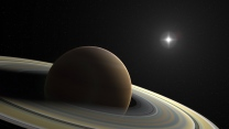 saturn planet ringe monde sterne
