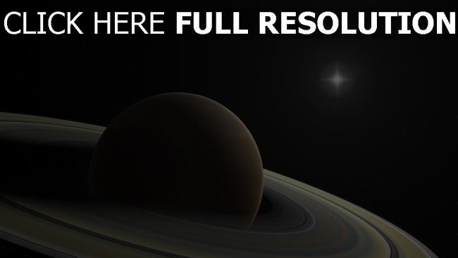 hd hintergrundbilder saturn planet ringe monde sterne