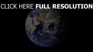 planeten erde kontinente wolken meer