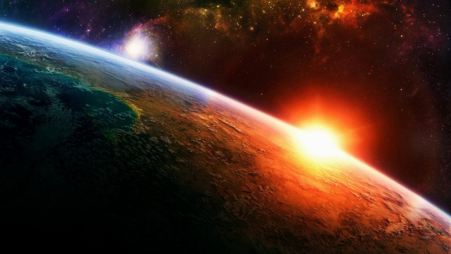 hd hintergrundbilder planeten sonne oberfläche sterne