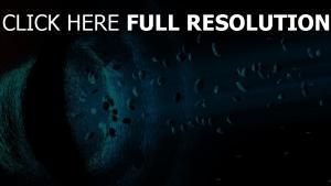 krater glühen felsen asteroiden
