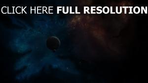 planet mond licht glühen nebelfleck