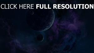 nebel dunst planeten sterne