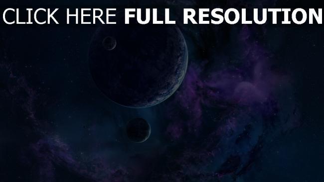 hd hintergrundbilder nebel dunst planeten sterne