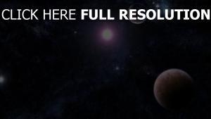 licht sterne planeten glanz