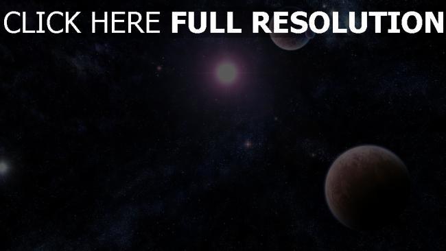 hd hintergrundbilder licht sterne planeten glanz