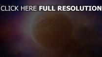 planeten sterne lichter oberfläche
