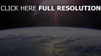 planeten oberfläche ozean wolken