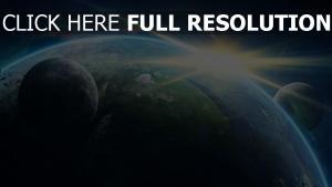 planet sonnenaufgang sonne monde