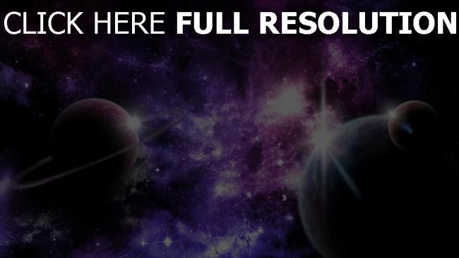 hd hintergrundbilder raum planeten ringe shine sterne