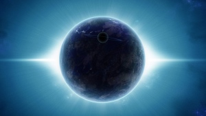 planeten satelliten ringe glanz strahlen