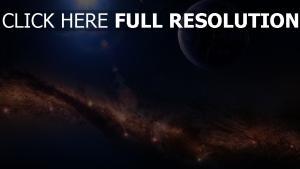 nebelfleck planet glühen strahlen